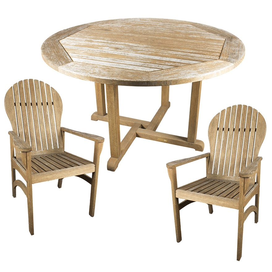 Kingsley Bate Teak Patio Chairs With Matching Table