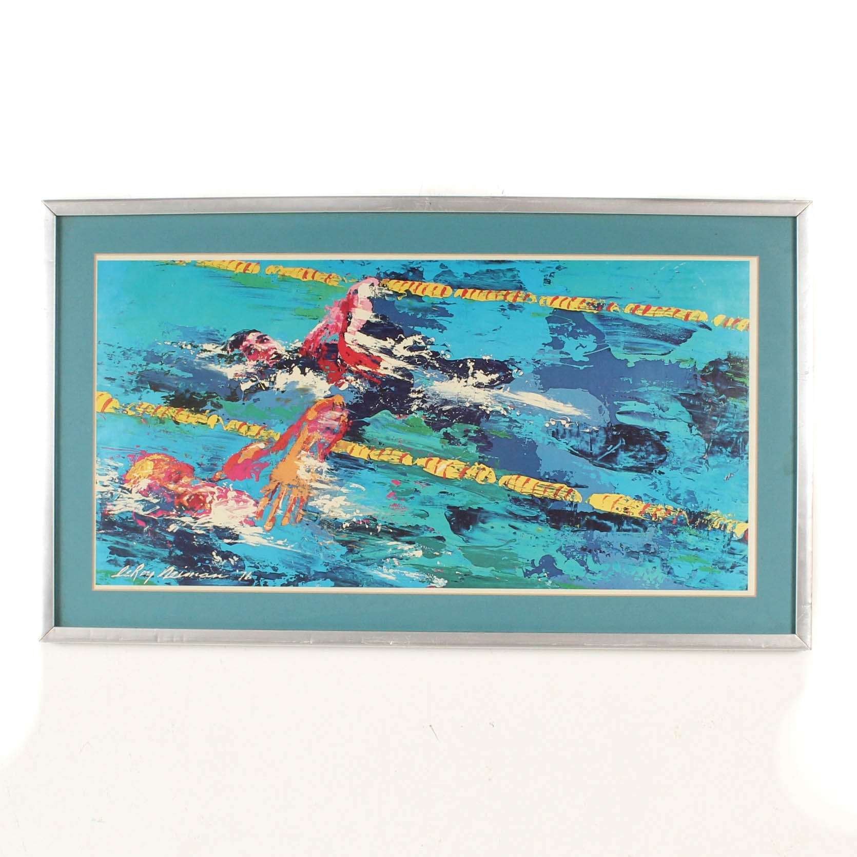 After LeRoy Neiman 1976 Olympics Offset Lithograph
