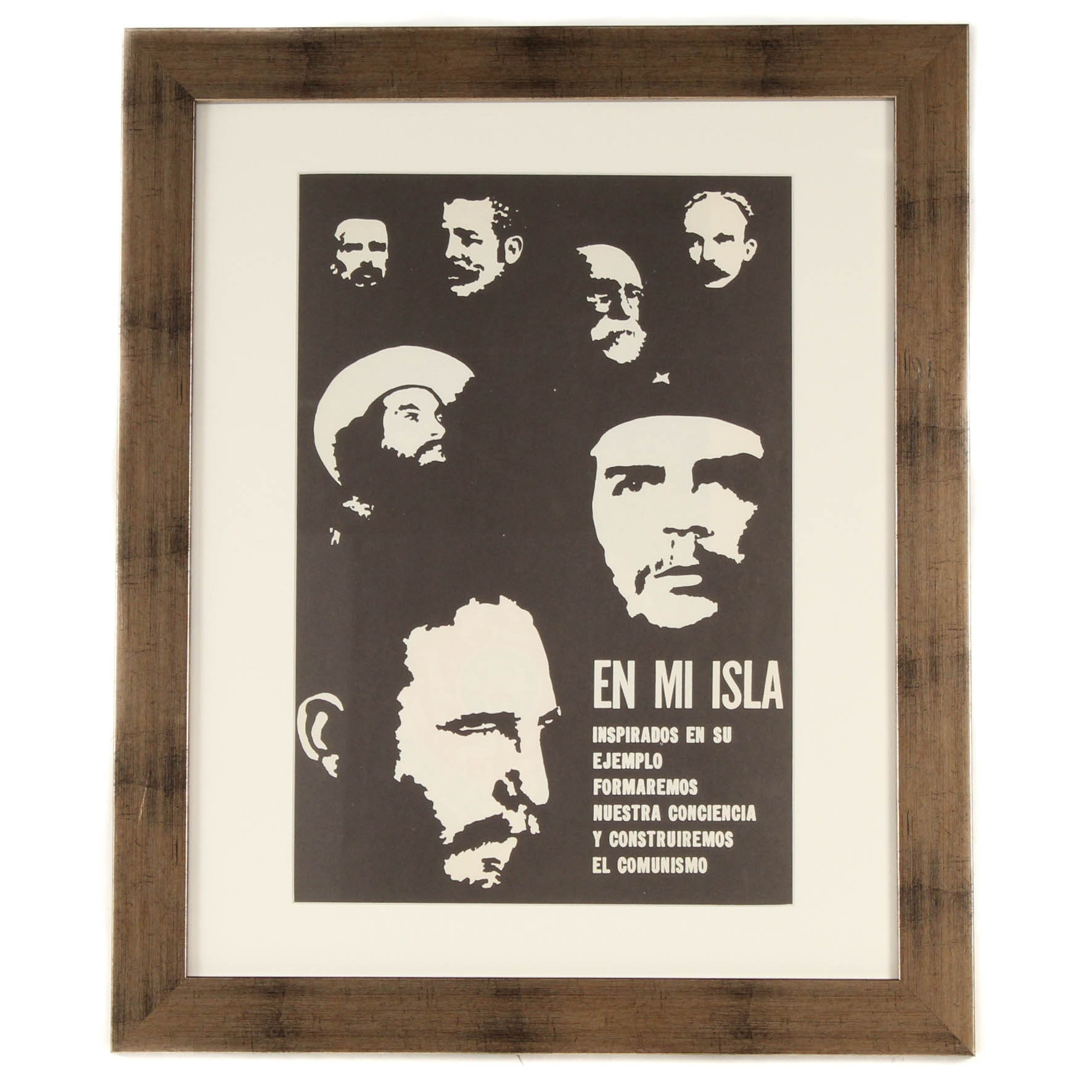 """Cuban Revolutionary Lithograph from Dugald Stermer's """"The Art of Revolution"""""""