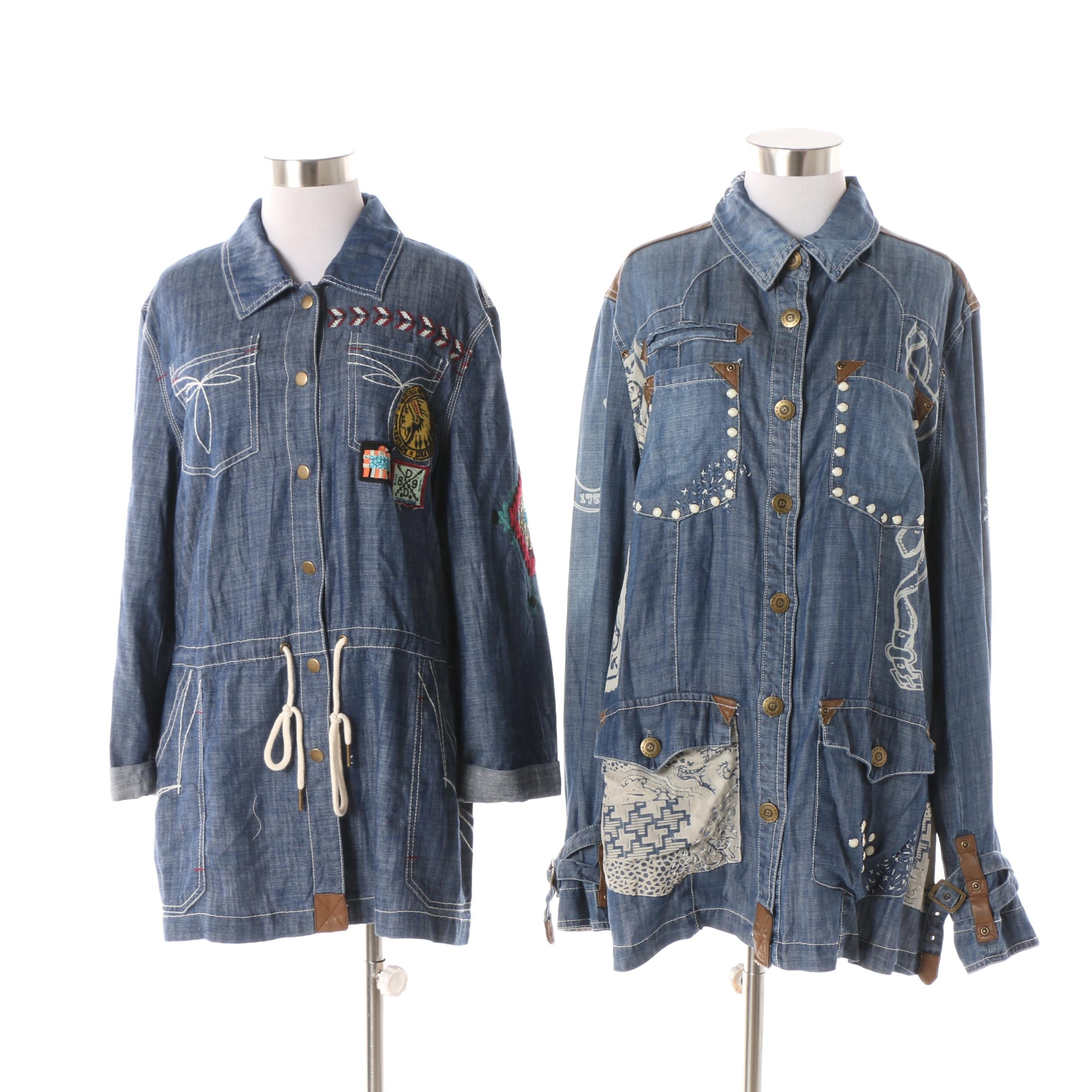 Women's Double D Ranch Denim Style Field Jackets