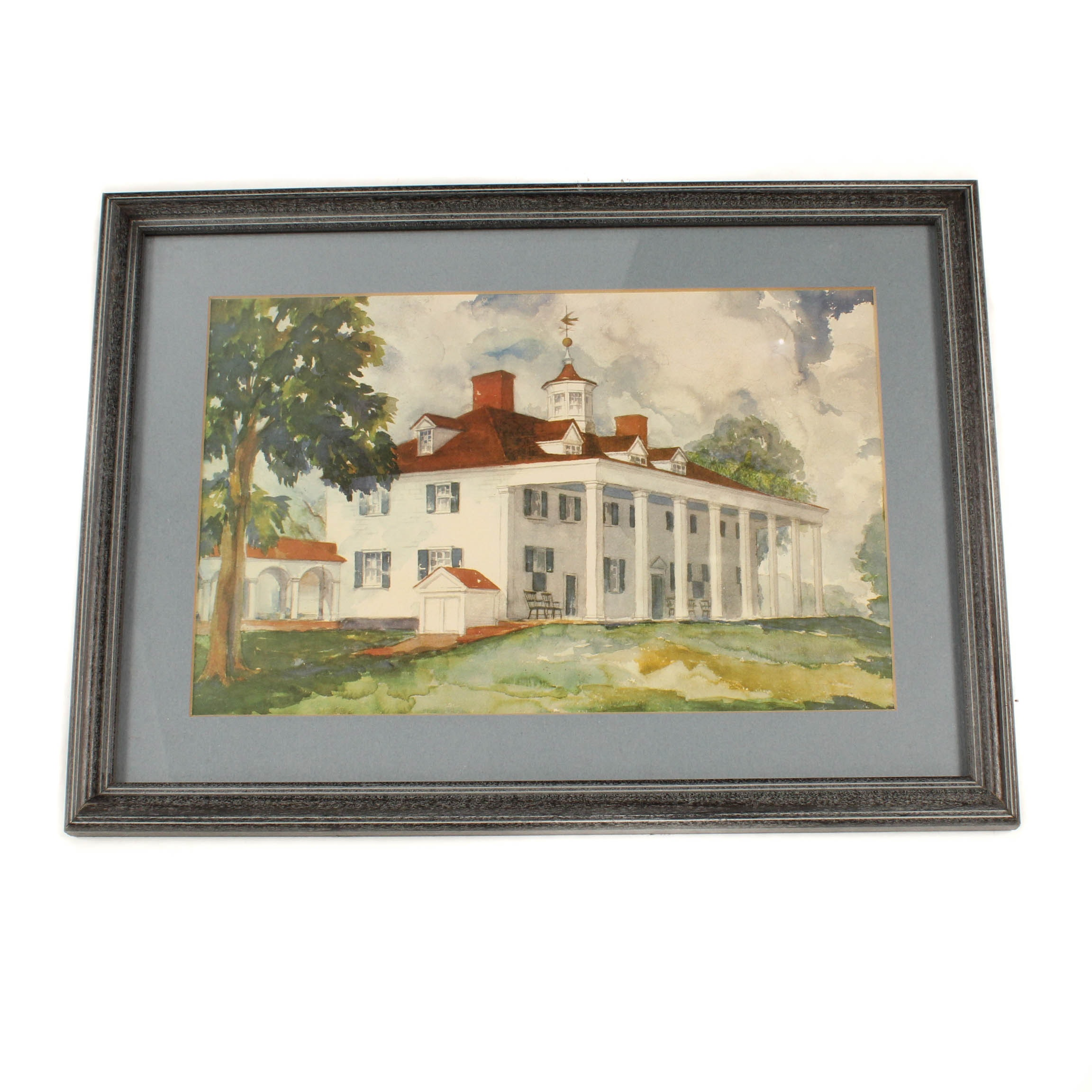 Watercolor Painting of George Washington's Mt. Vernon