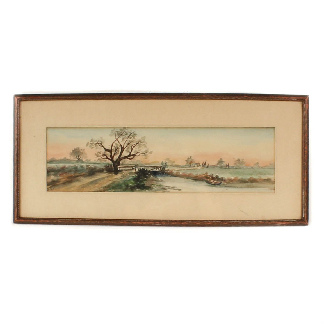 Ce Long Vintage Watercolor Landscape