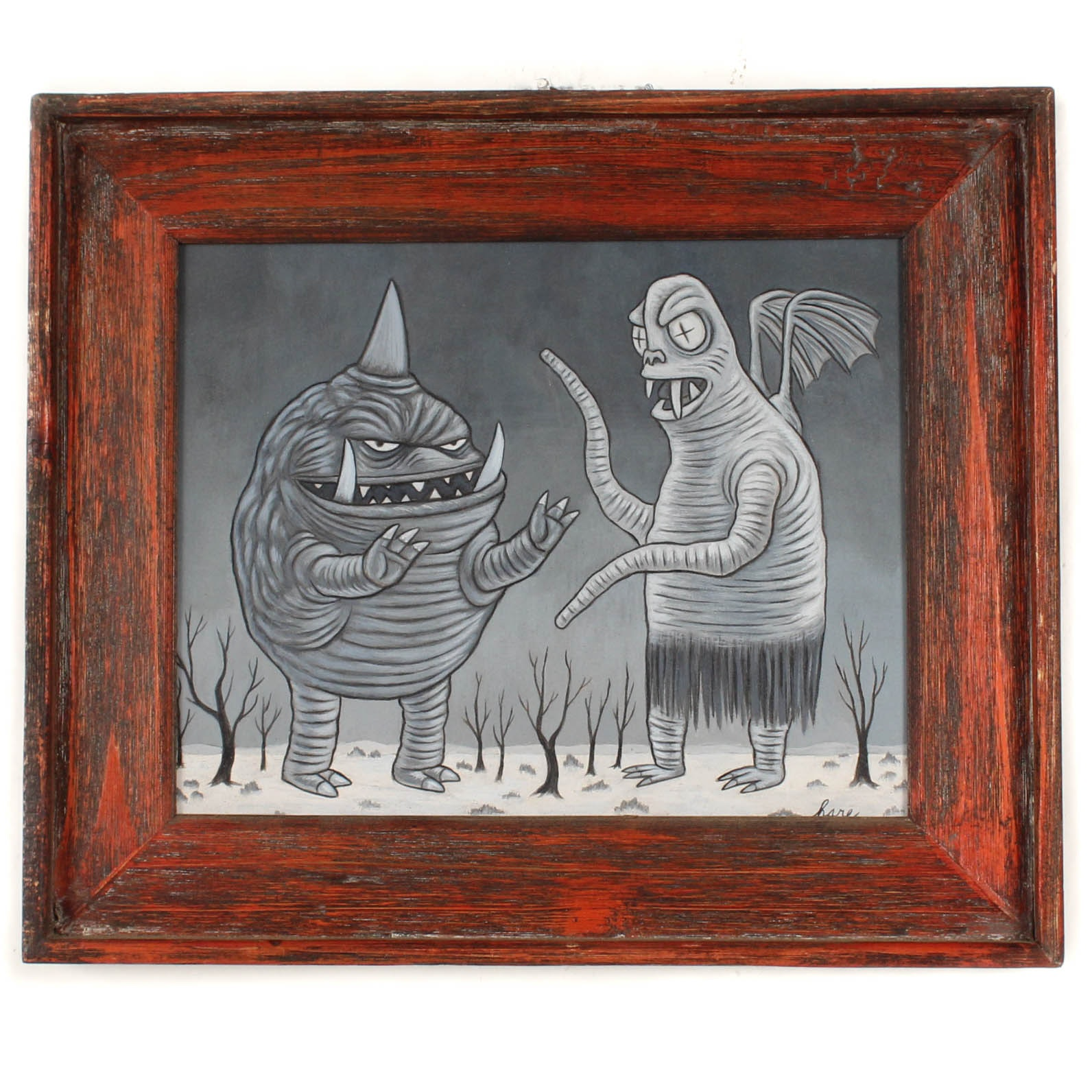 """Robb Hare Acrylic Painting """"Monsters R Us"""""""