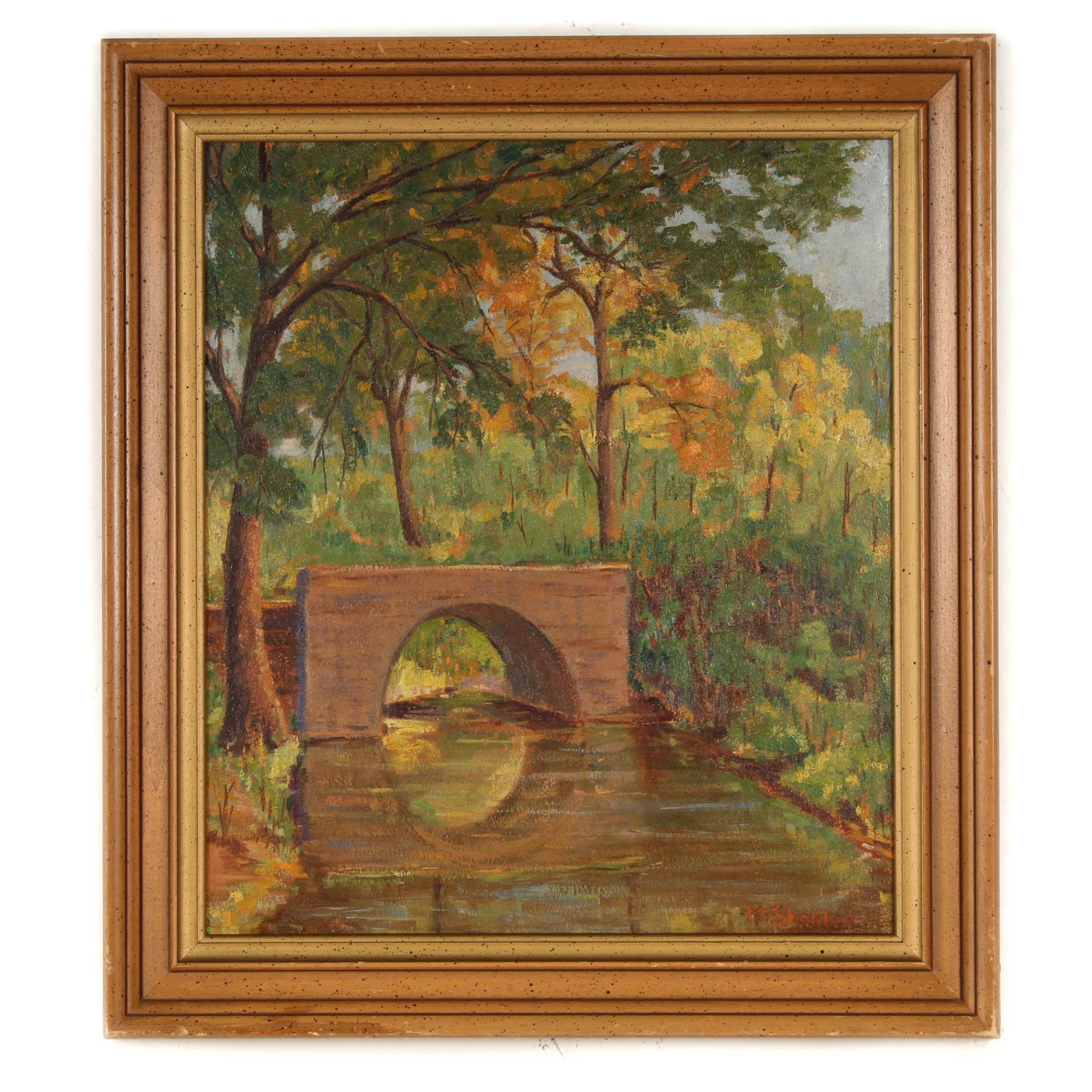 Morris Shokler Oil on Board Impressionist Landscape Painting