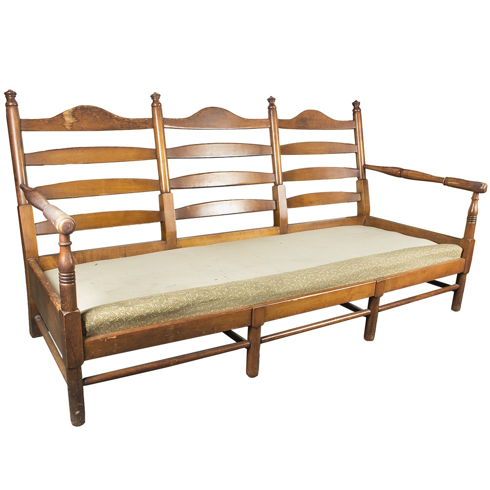 Ladder Back Settee Frame
