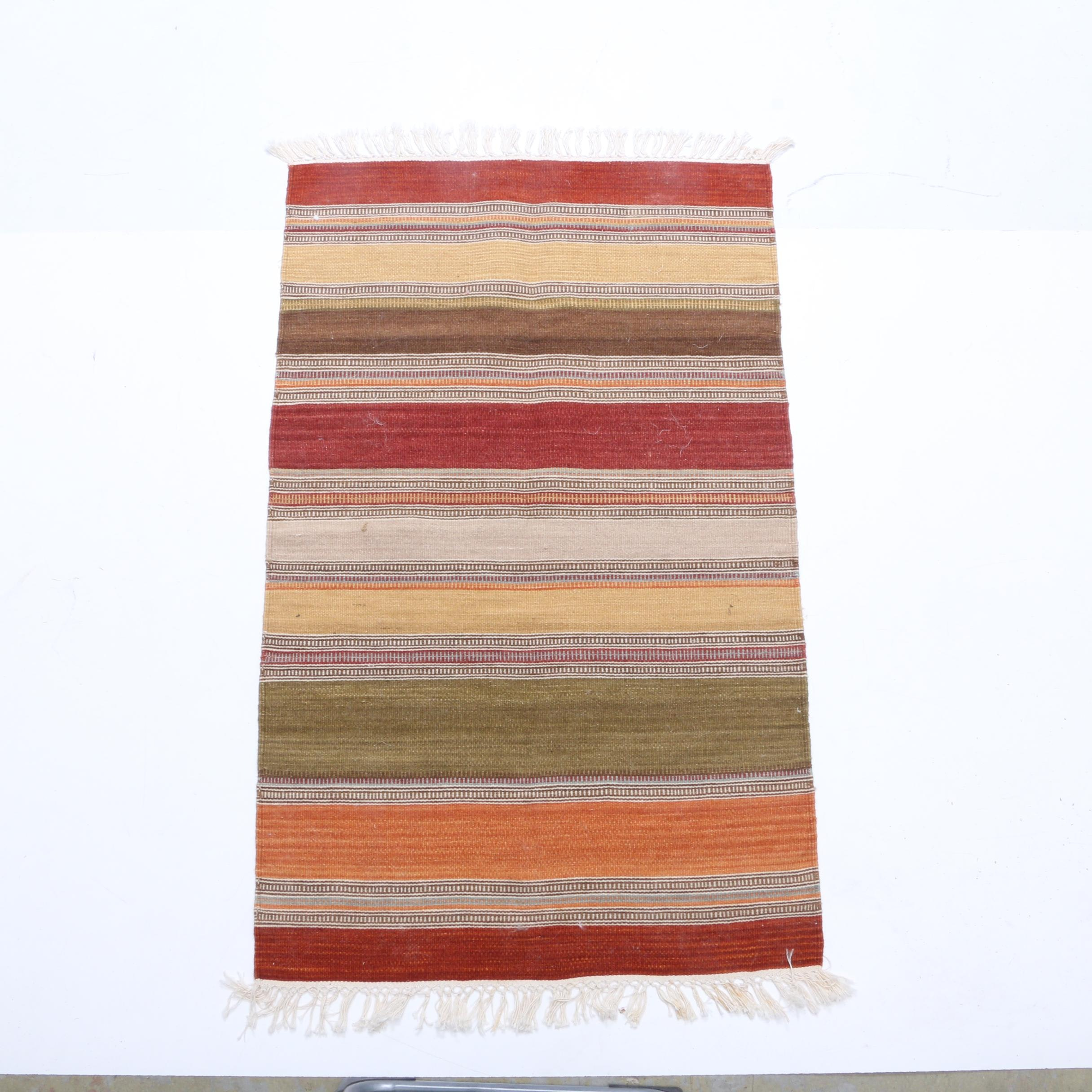 Handwoven Striped Area Rug