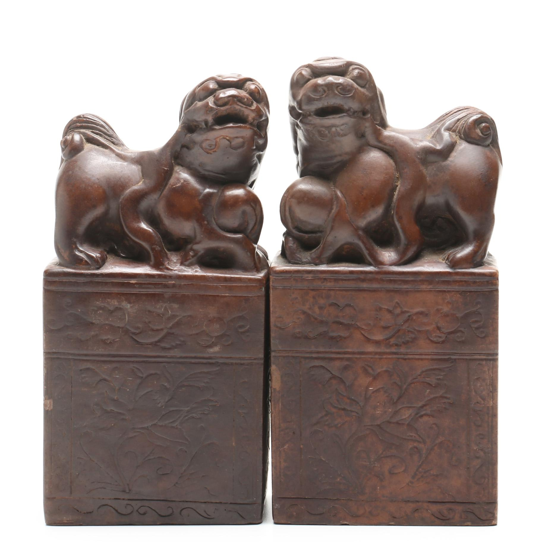 Alva Museum Replica Chinese Guardian Lion Bookends
