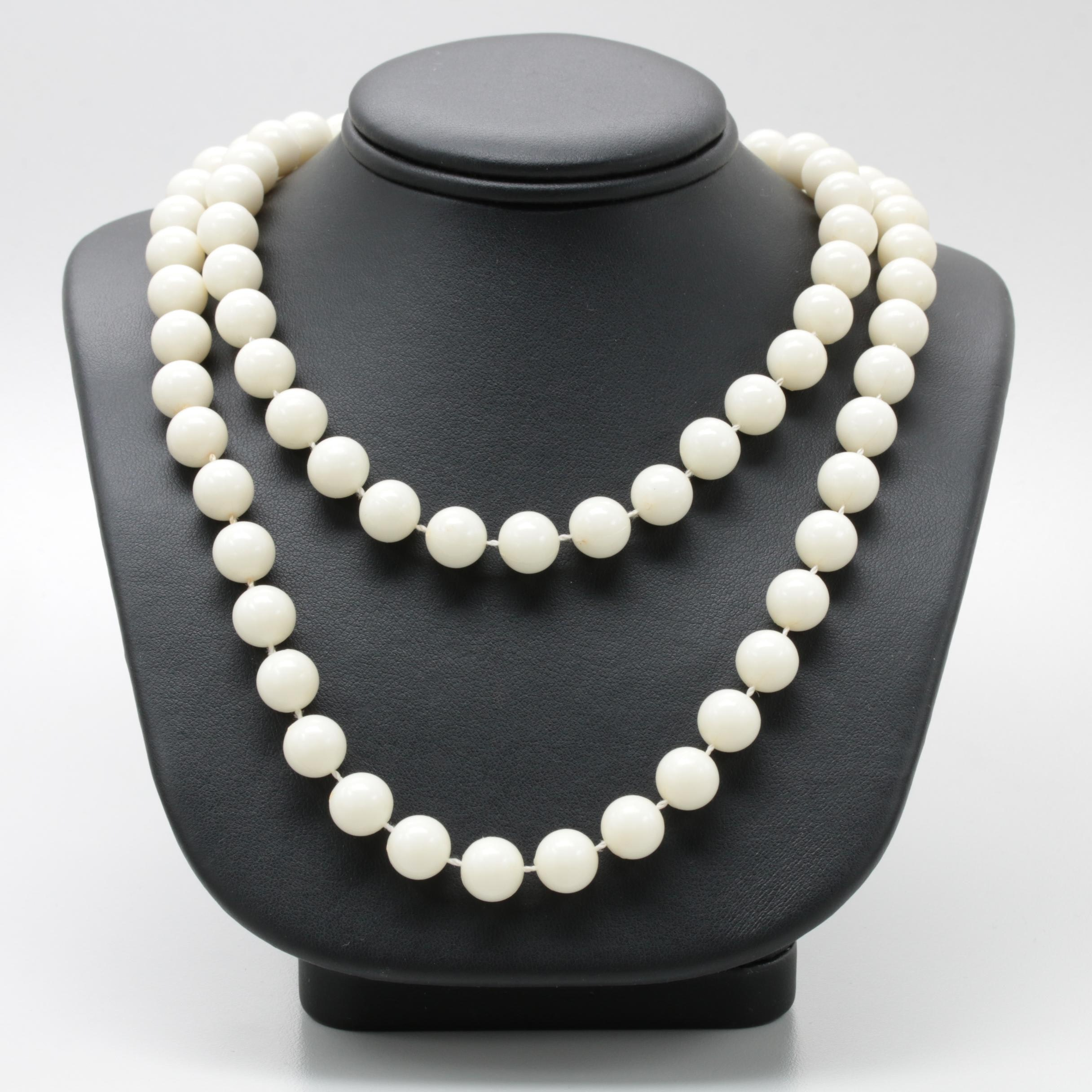 Plastic Beaded Continuous Necklace
