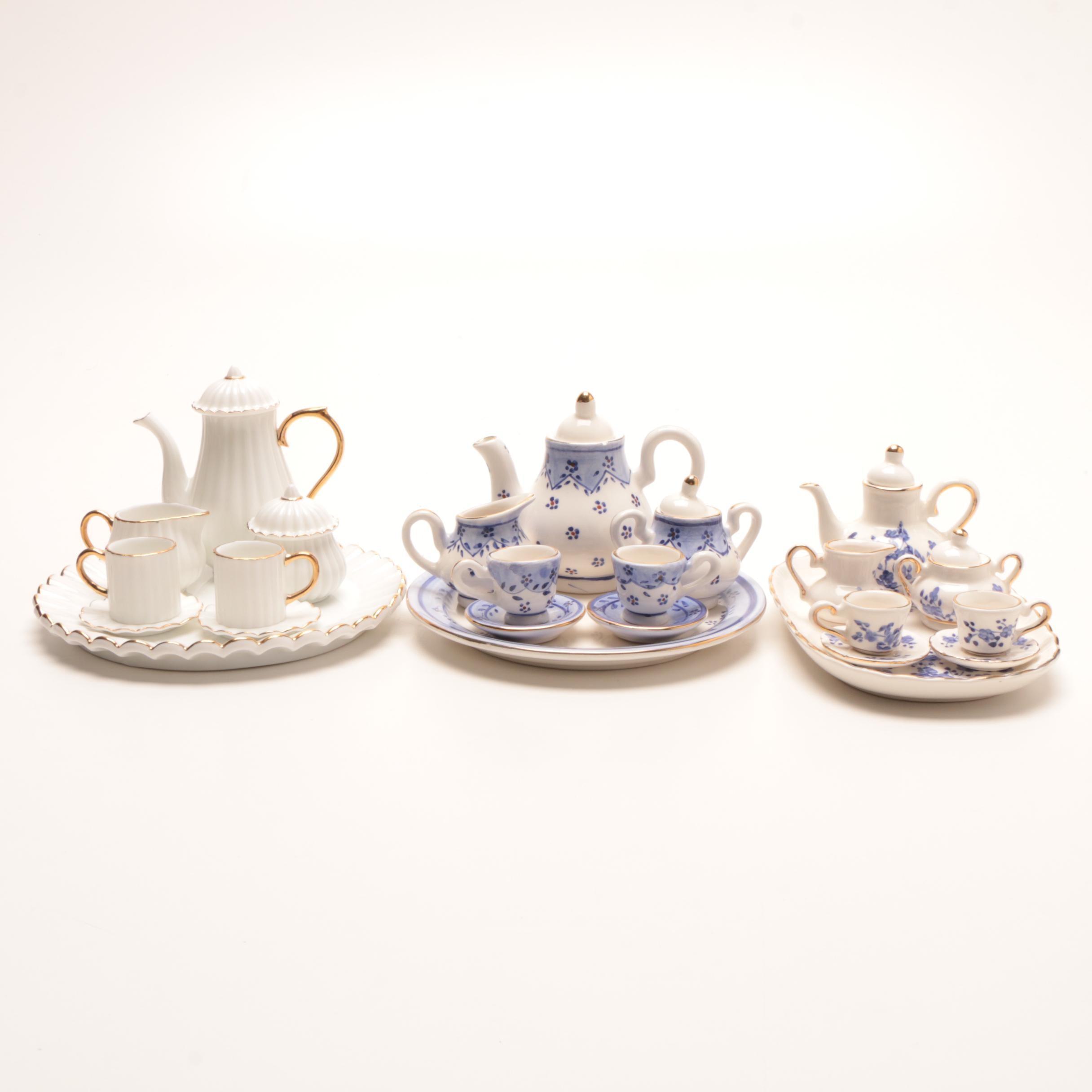 Three Miniature Porcelain Tea Sets