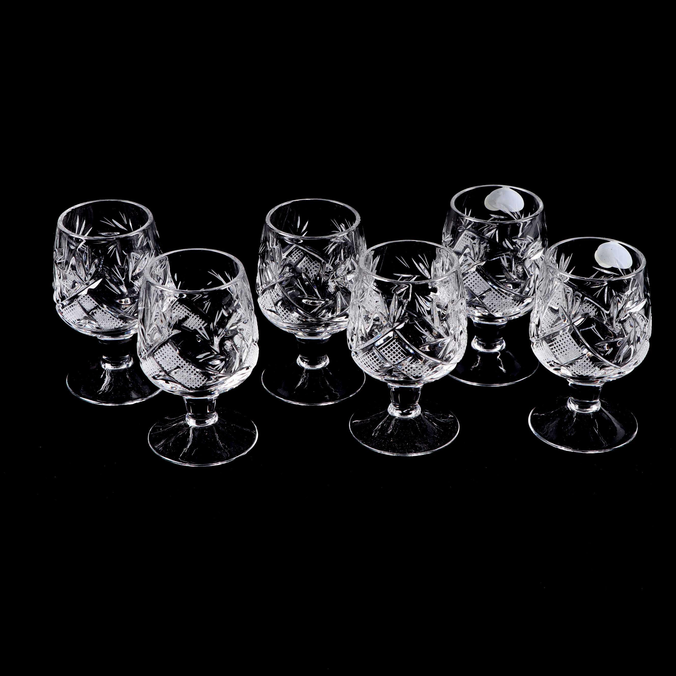 "Neman Glassworks ""Chanson"" Crystal Cordial Glasses"