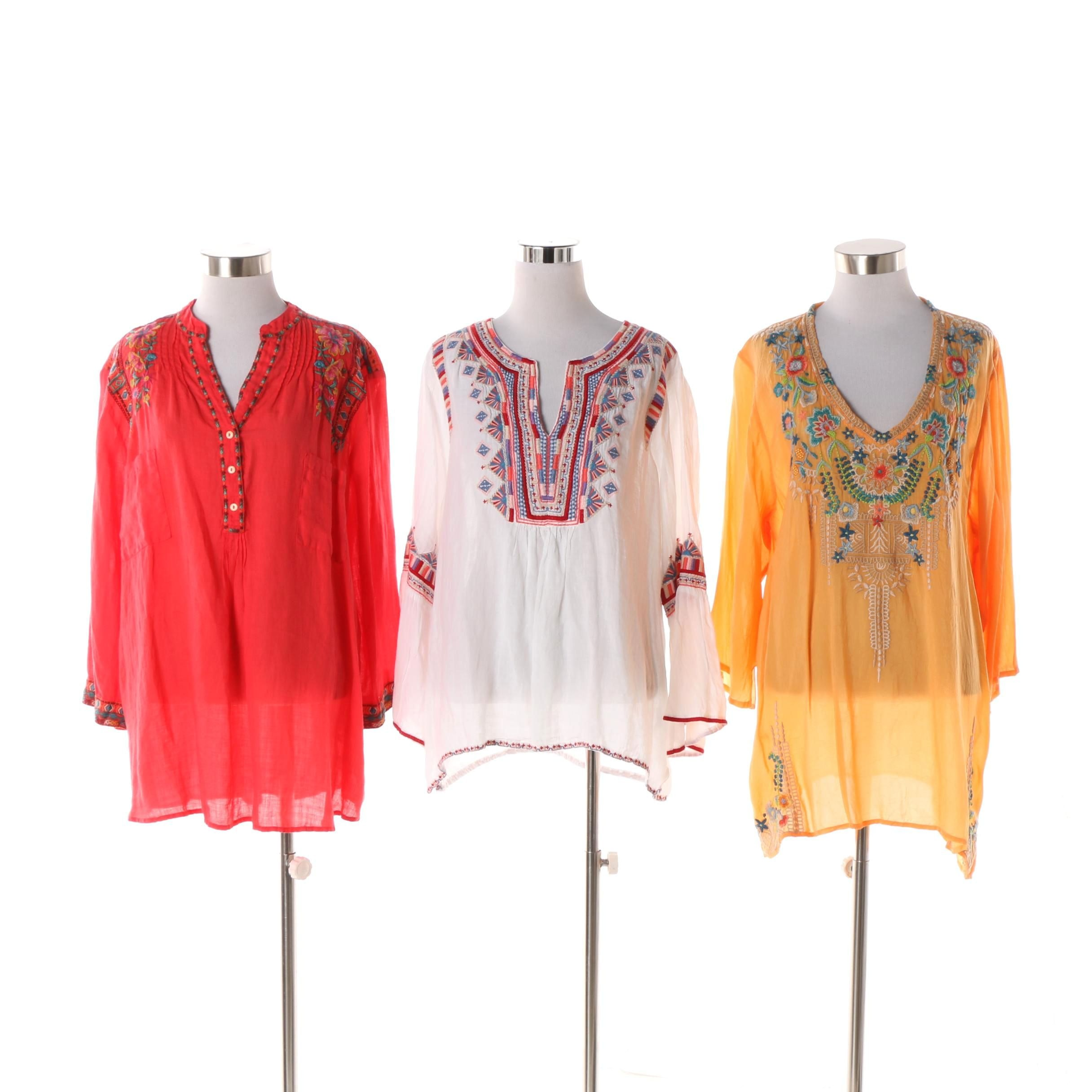 Women's Johnny Was Embroidered Tunics