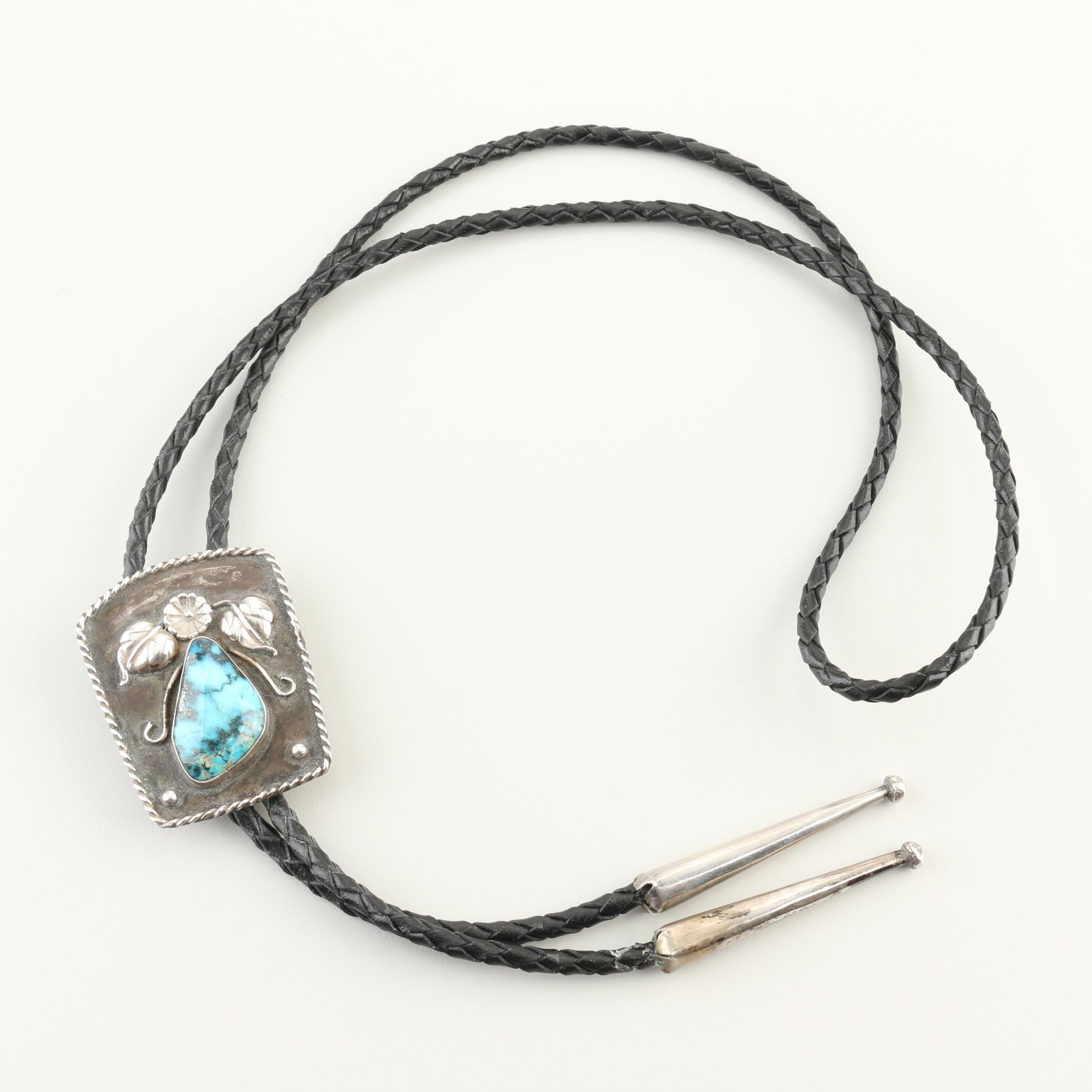 Sterling Silver Turquoise Bolo Tie