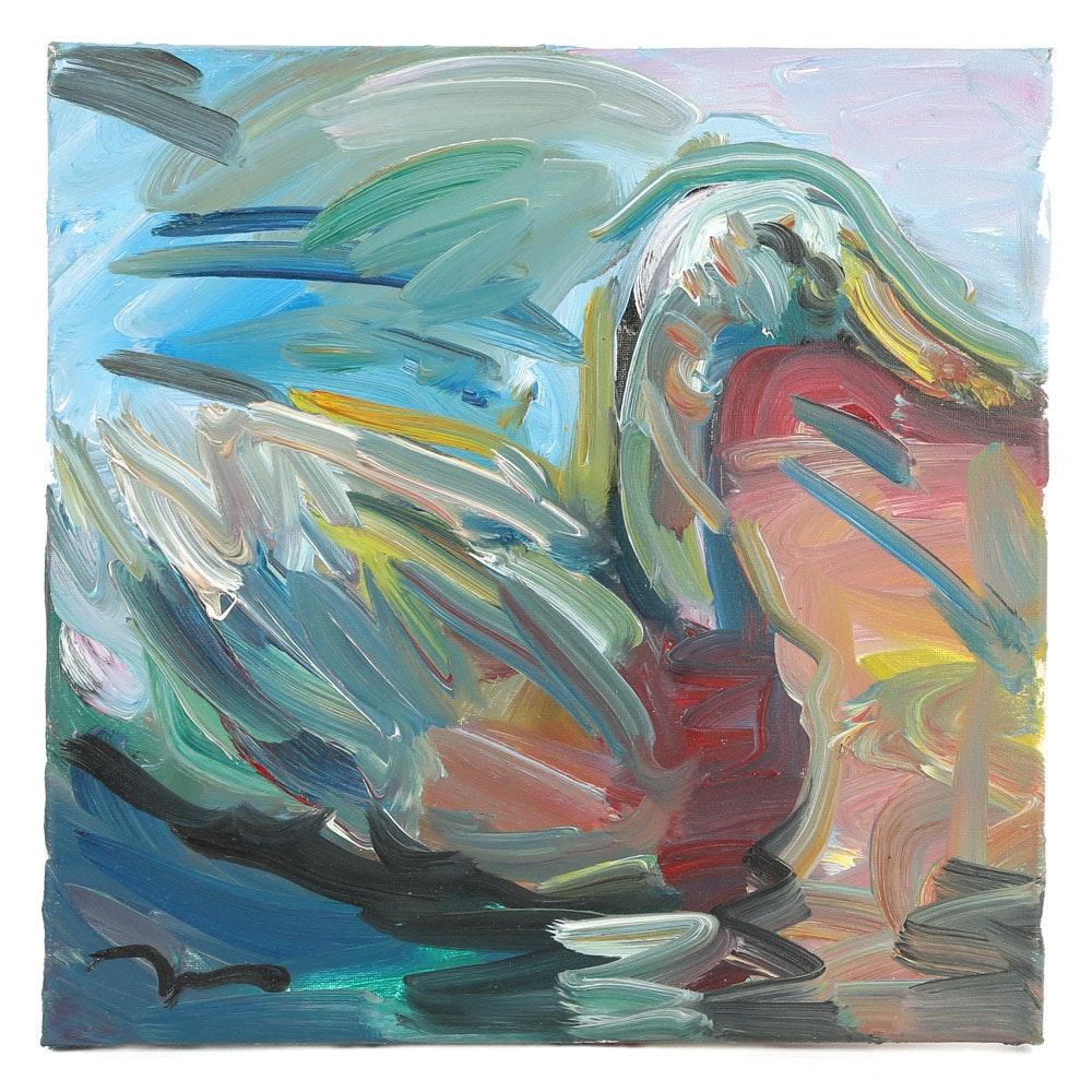 "Jose Trujillo Oil Painting ""The Pond"""