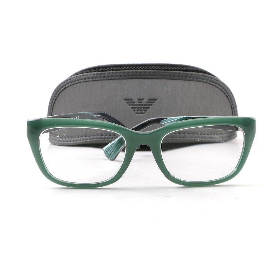 c409a6fba51 Emporio Armani EA3058 Green Prescription Eyeglasses with Case   EBTH