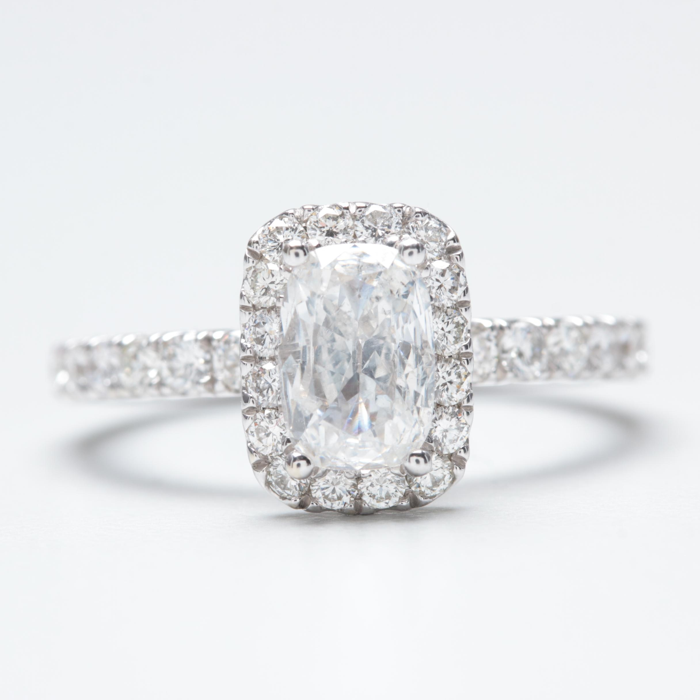 14K White Gold 1.38 CTW Diamond Ring