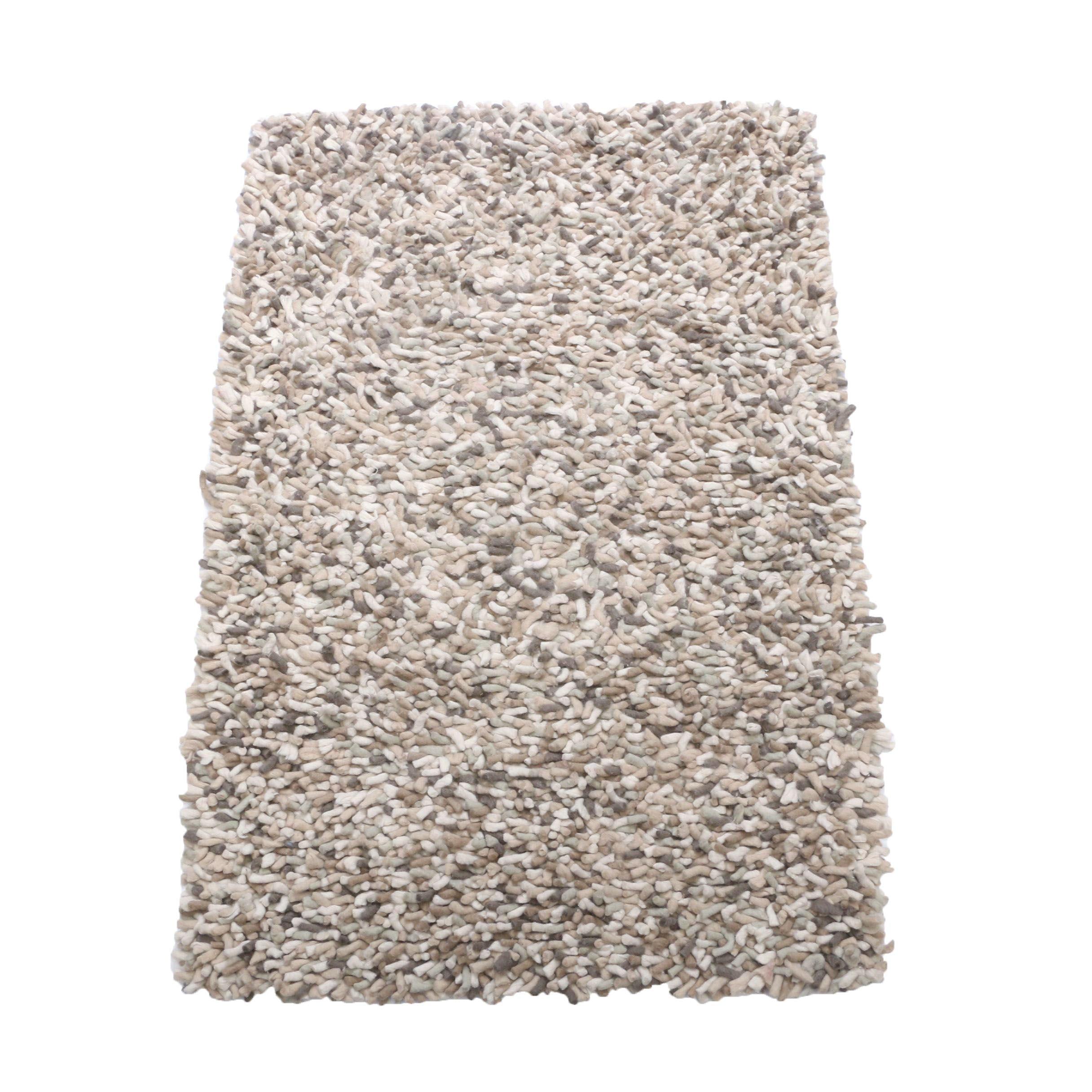 Felted Wool Shag Area Rug