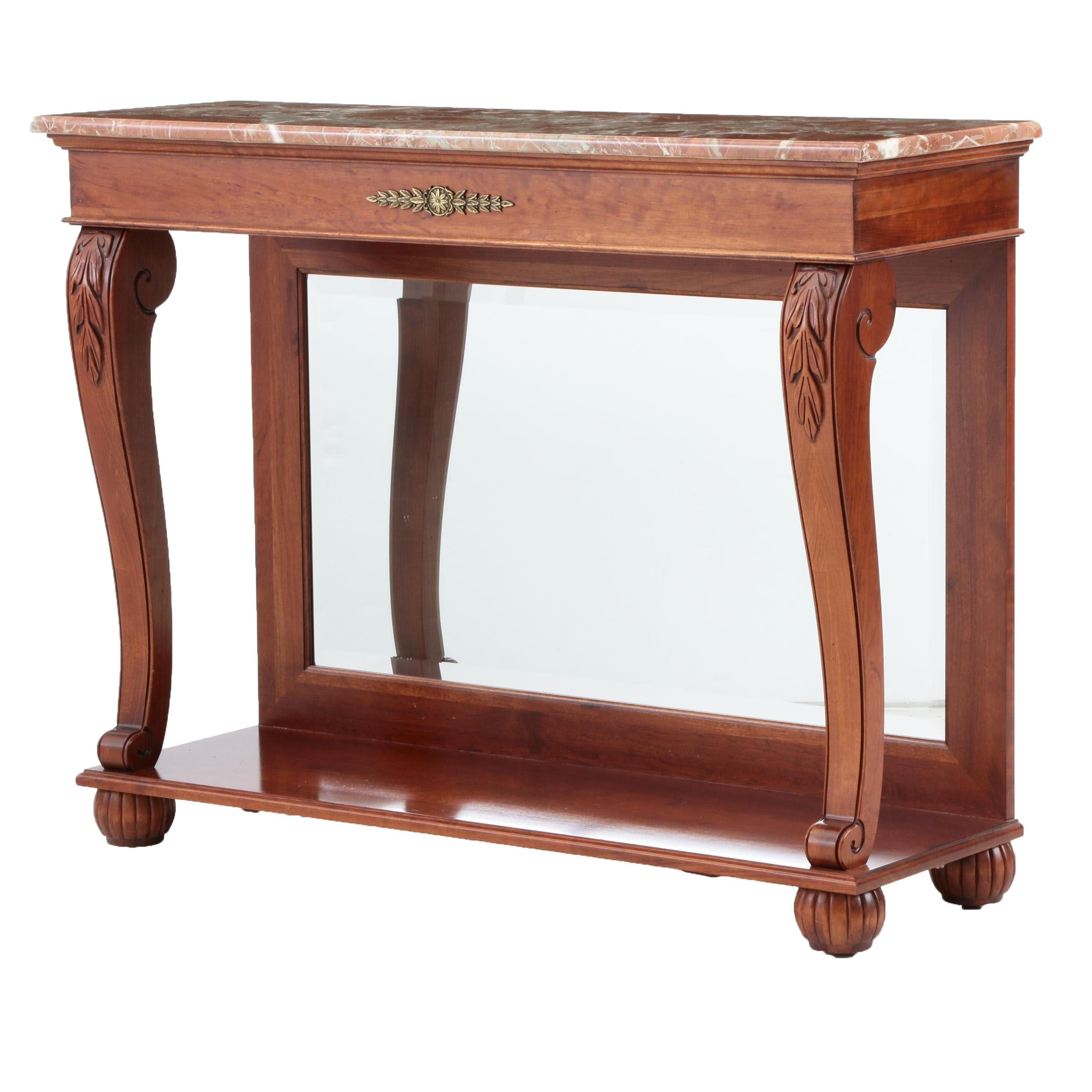 American Empire Style Console Table By Ethan Allen