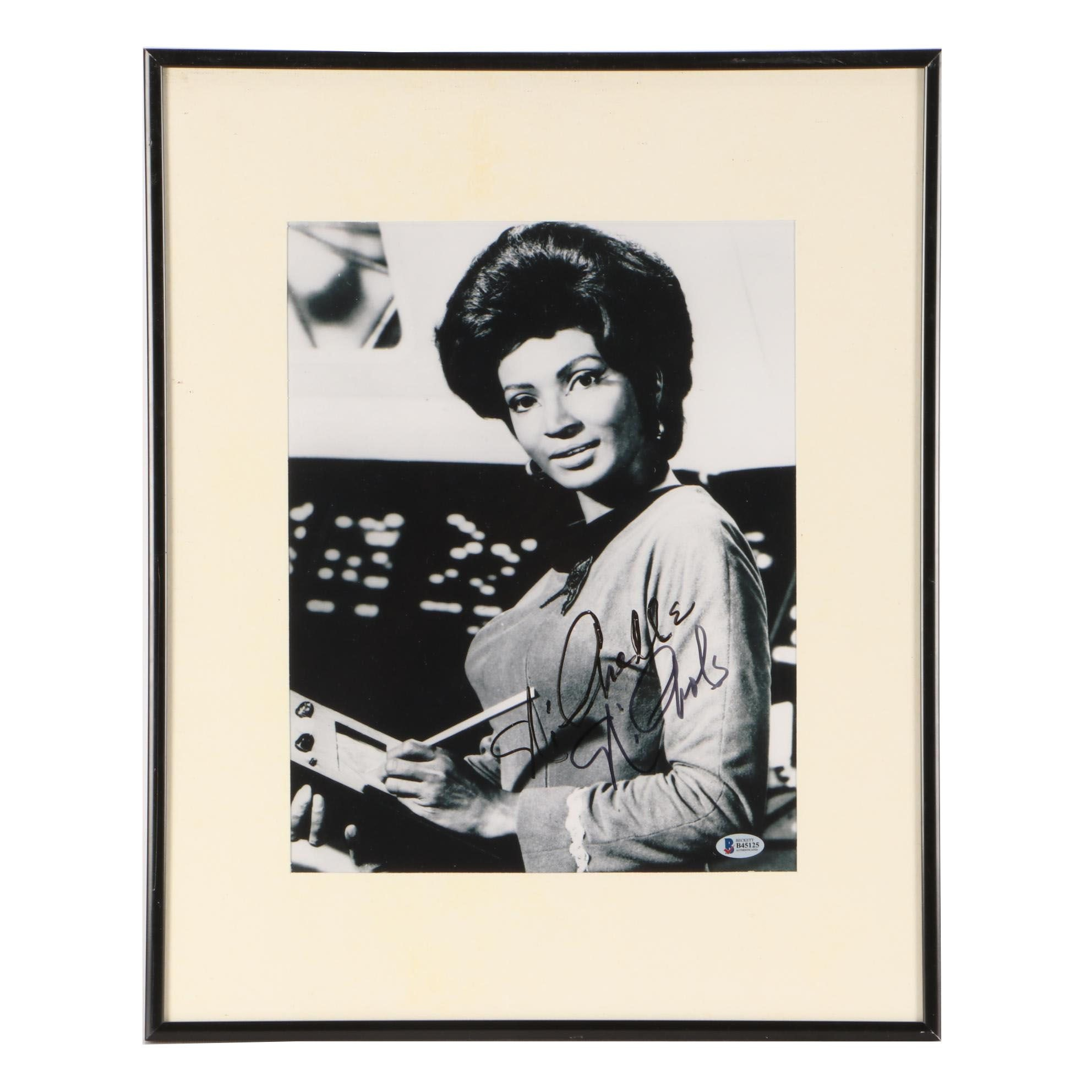 "Nichelle Nichols ""Lt. Uhura"" Signed Star Trek Framed Display"