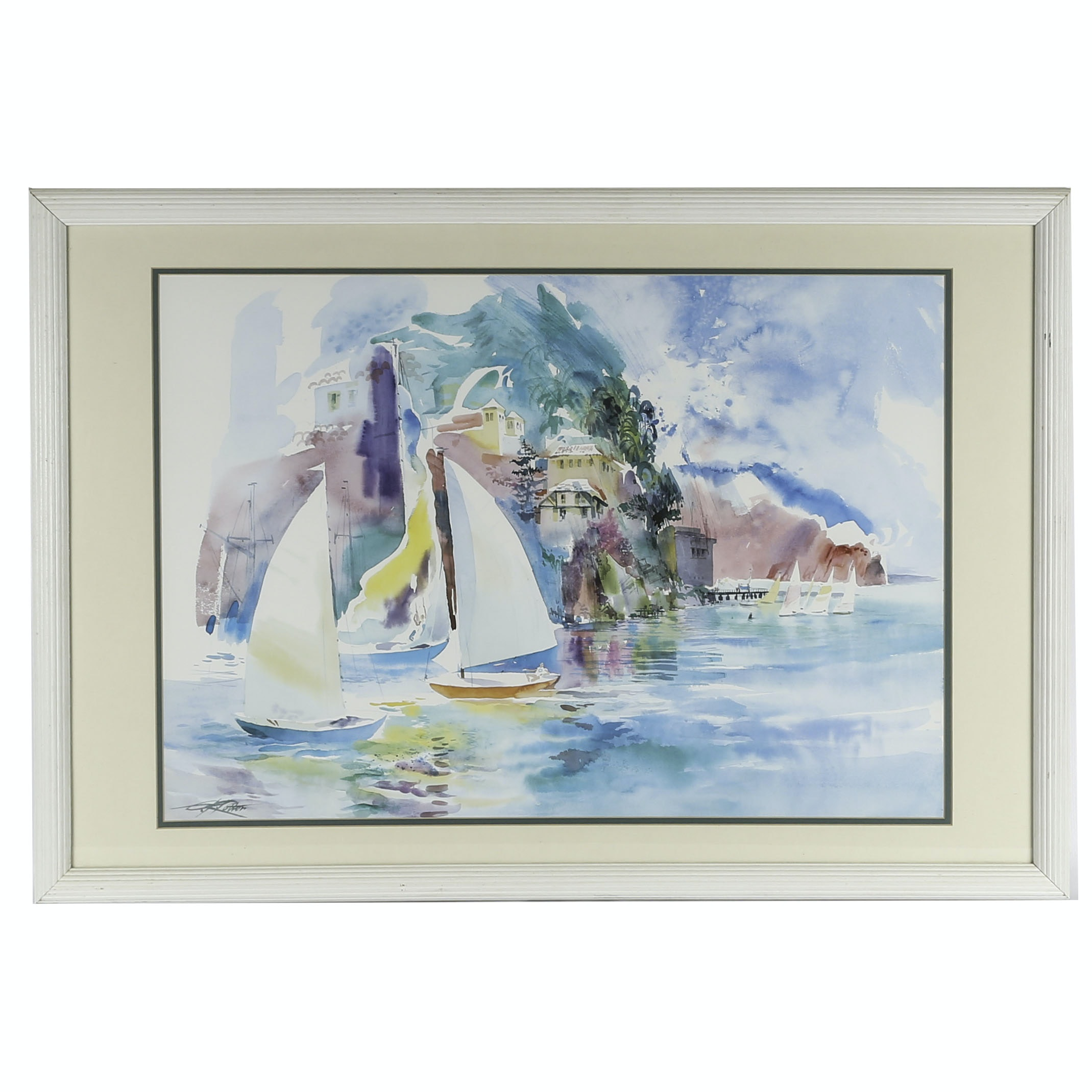 Offset Lithograph Seascape after Kenneth Porter
