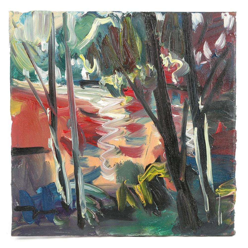 """Jose Trujillo Oil Painting """"River Light"""""""