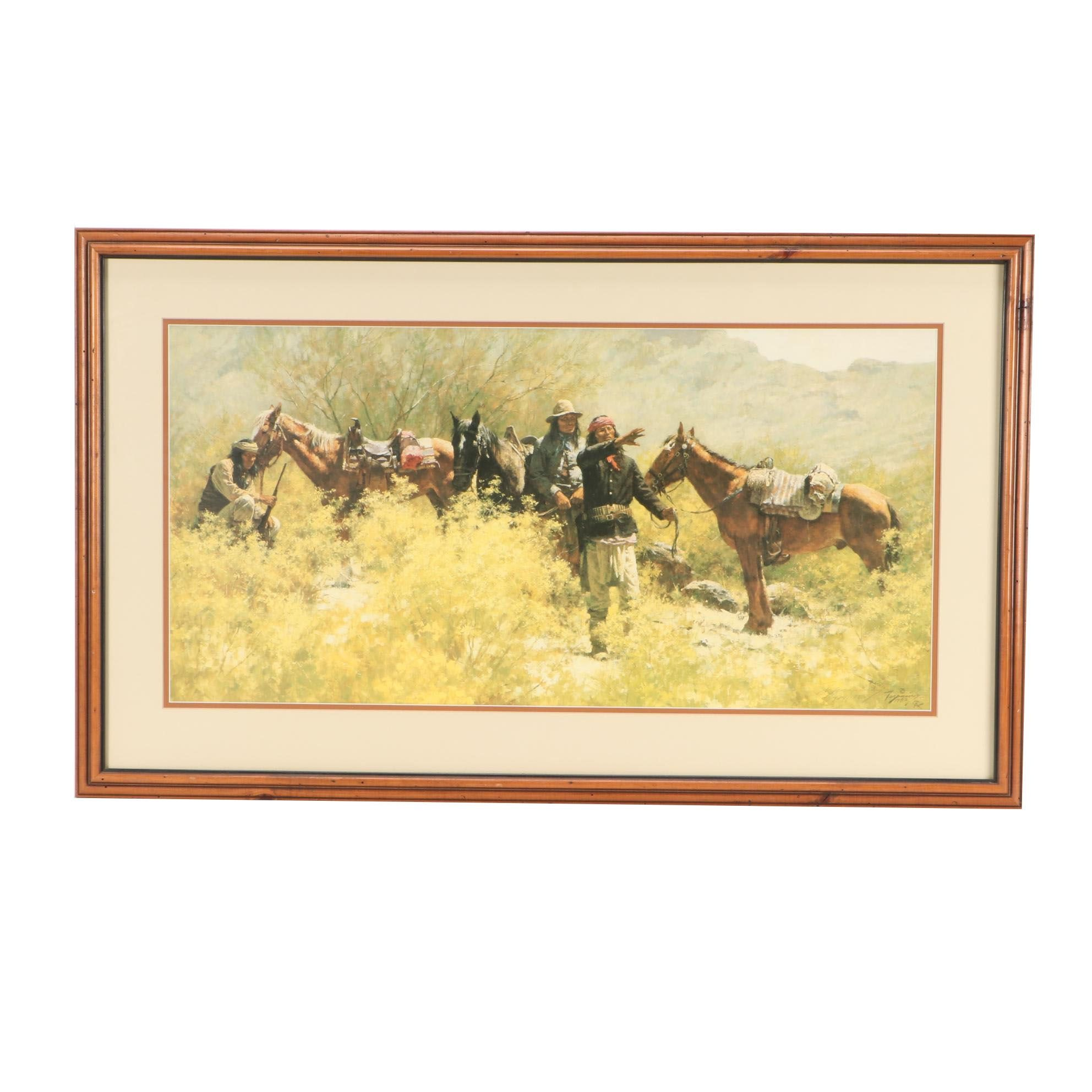 Howard Terpning Limited Edition Offset Lithograph of Native Americans