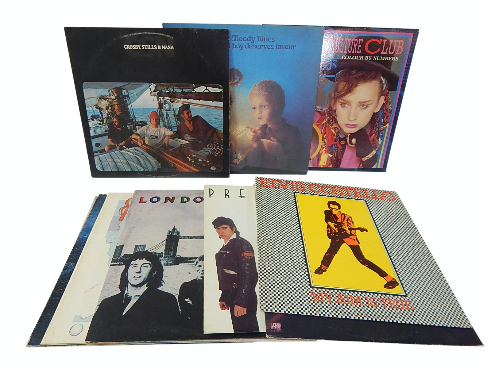 1970s Classic Rock 33 RPM Record Album Collection - 13 Count Lot