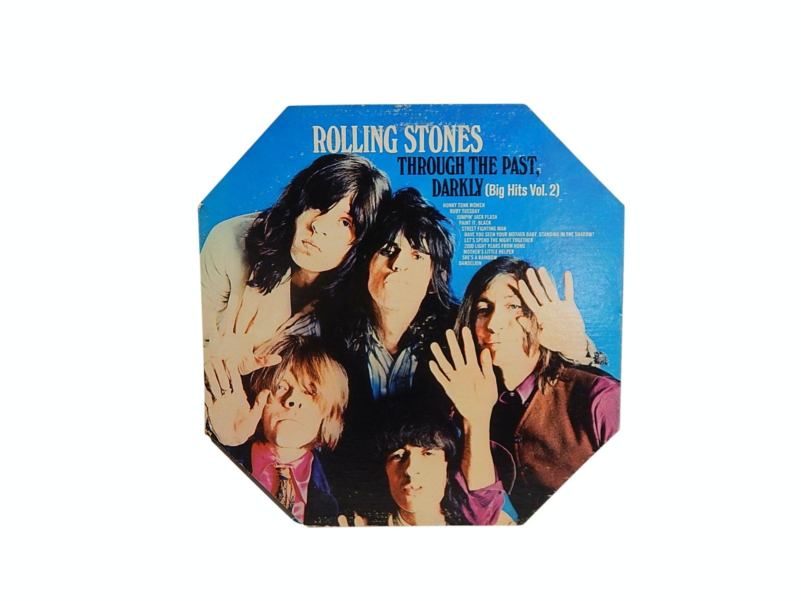 "1969 Rolling Stones ""Through the Past Darkly"" Big Hits Vol. 2 Record Album"