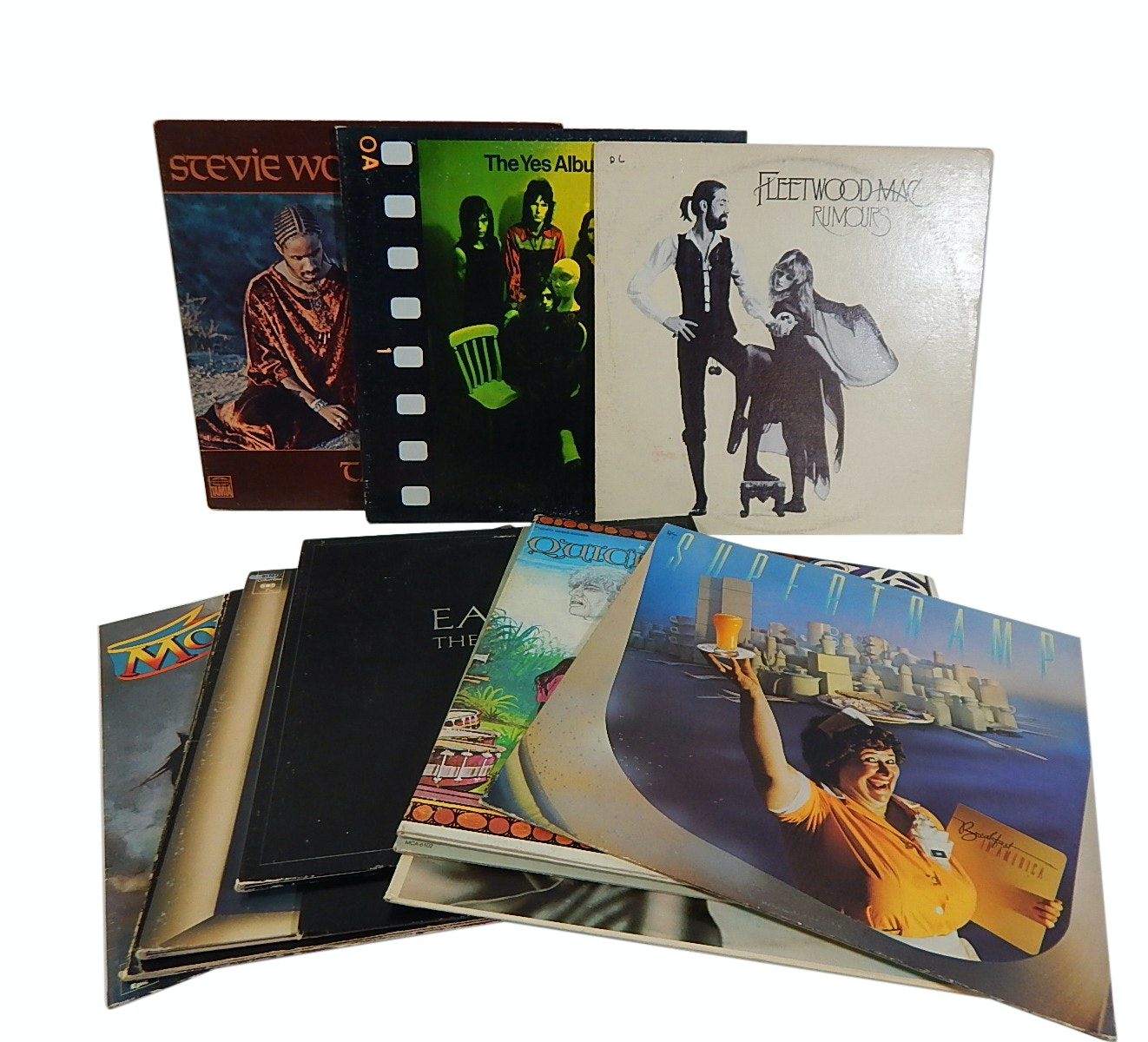1970s Classic Rock 33 RPM Record Album Collection - 12 Count Lot