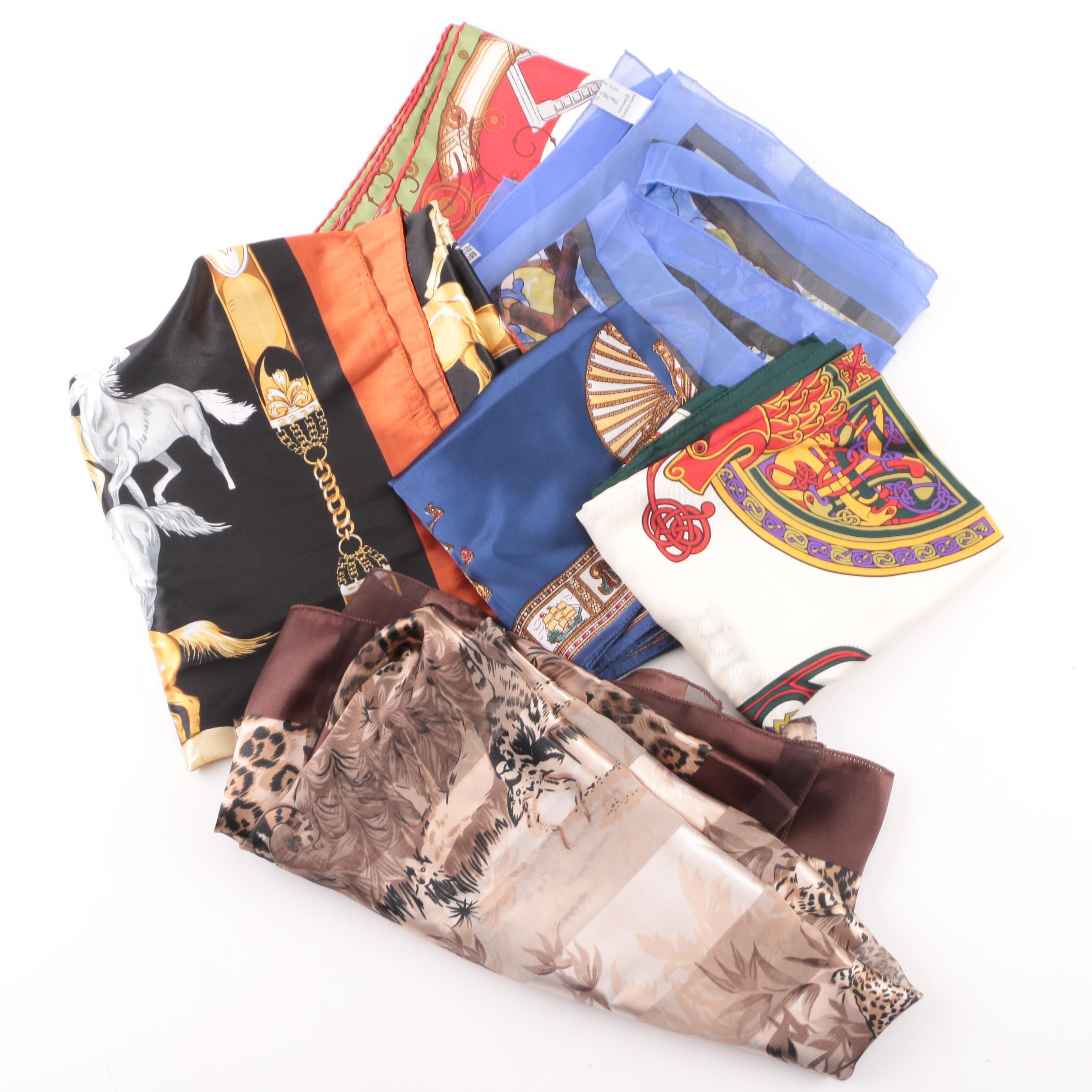 Fashion Scarves including Gump's and Metropolitan Museum of Art