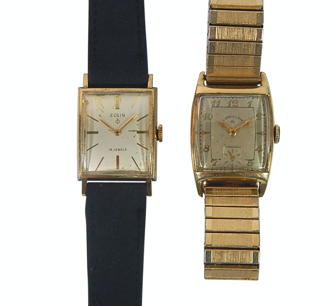 Elgin and Lord Elgin Gold-Tone and 14K Gold Filled Wristwatches