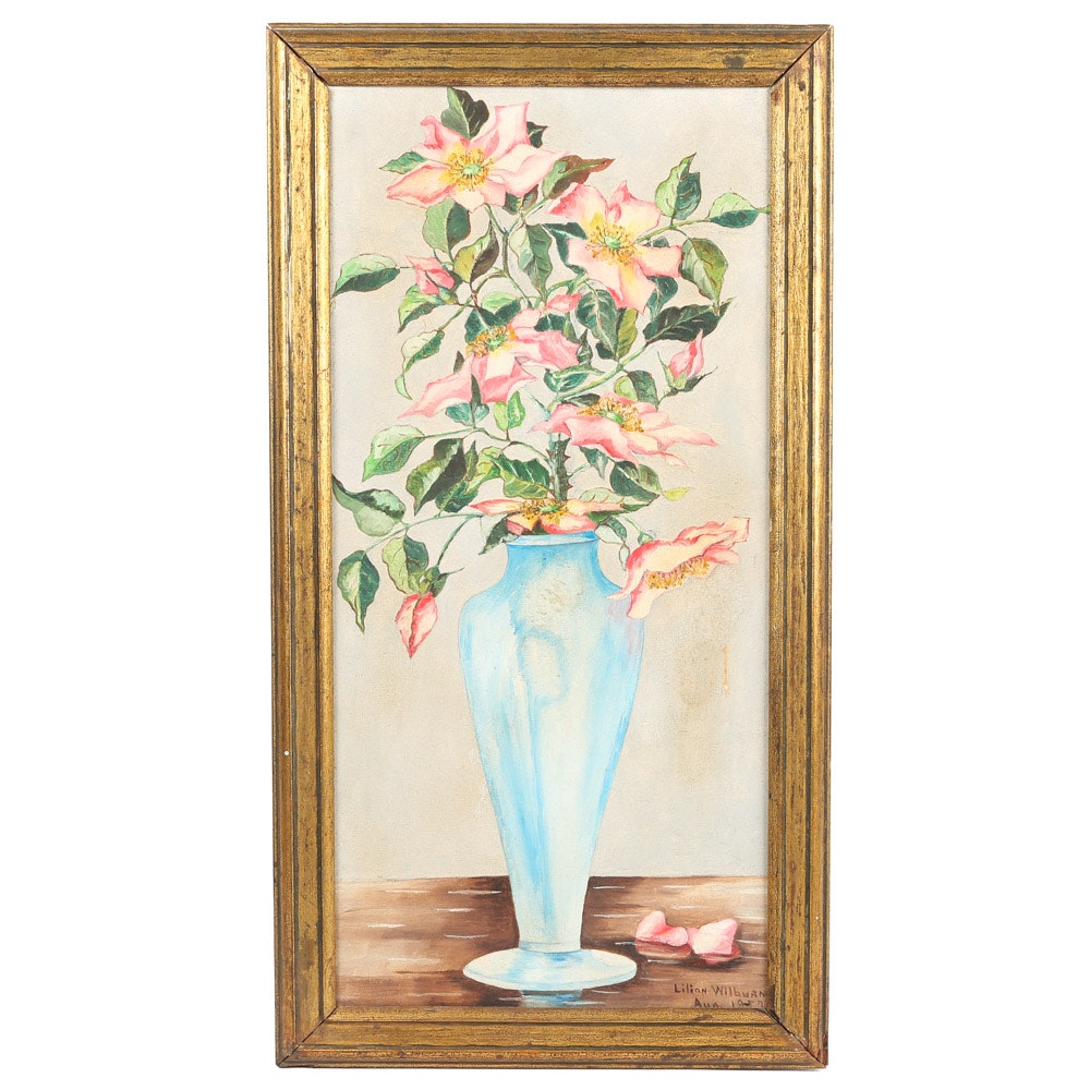 Lillian Wilburn Oil Painting Floral Still Life