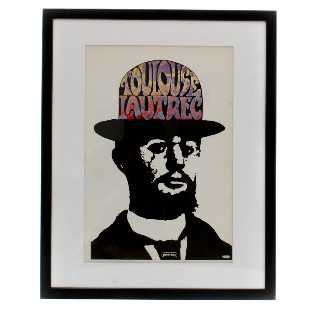 "Offset Lithograph after Peter Max ""Toulouse Lautrec"""