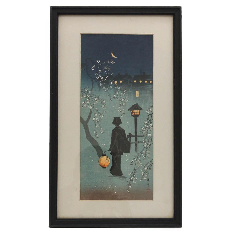 Vintage Japanese Shin-Hanga Woodblock Print
