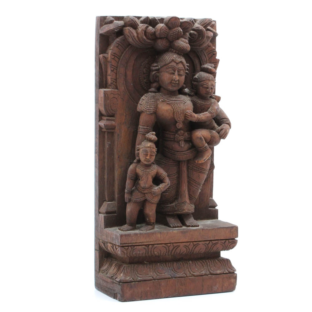 Hand Carved South Asian Carving of Mother