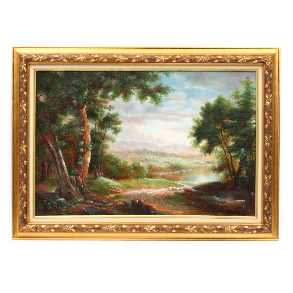Paul Strisik Vintage Oil Painting