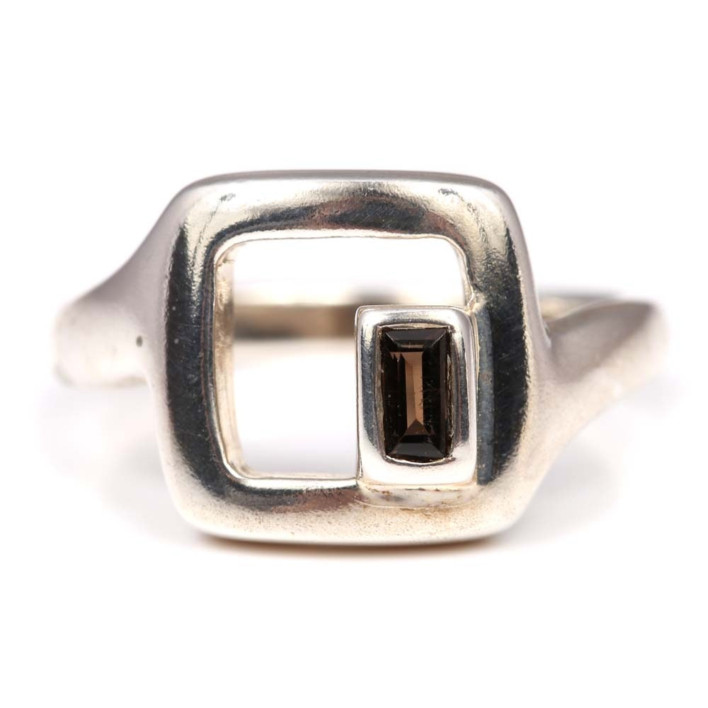 Sterling Silver Smoky Quartz Ring