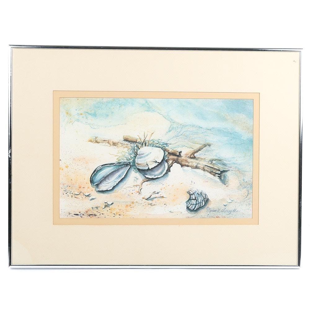Offset Lithograph Seascape after Marie L. Forsythe