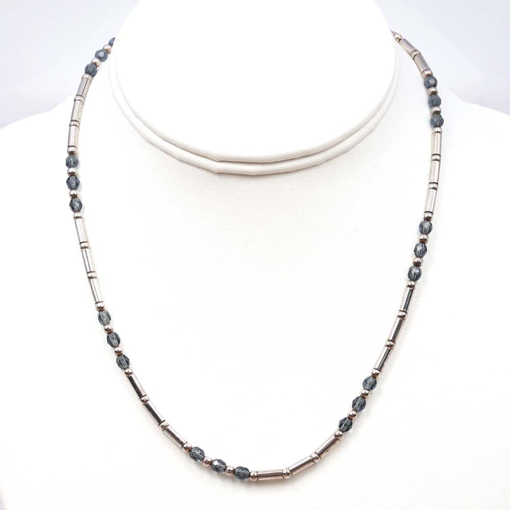 Sterling Silver Bead and Glass Bead