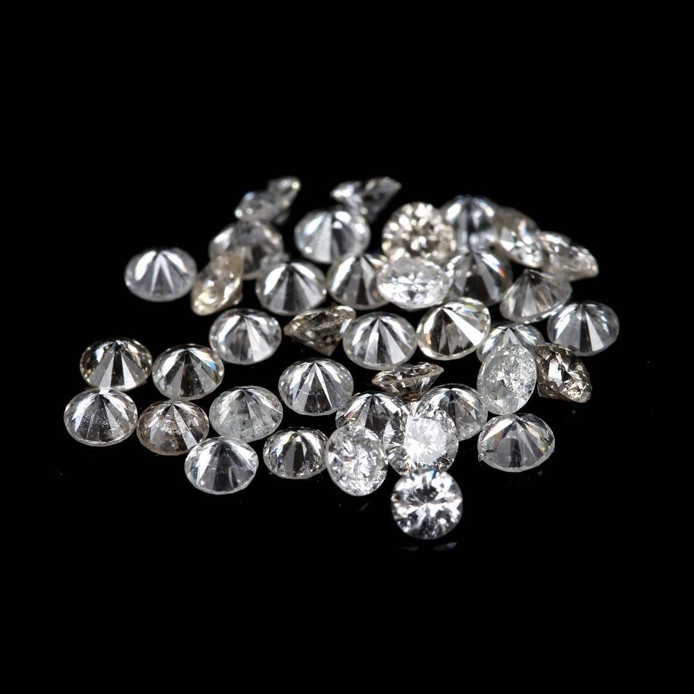 Loose 1.56 CTW Round Diamonds Melee