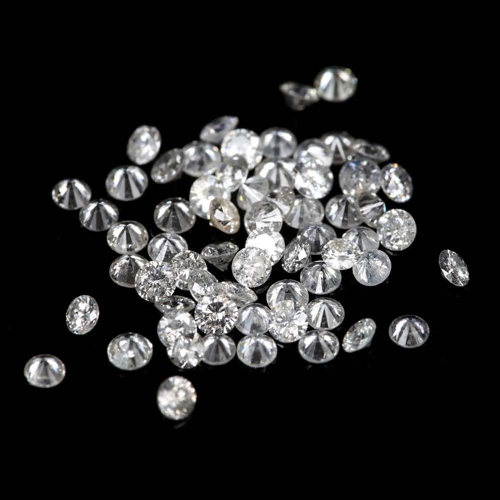 Loose 1.58 CTW Round Diamonds Melee