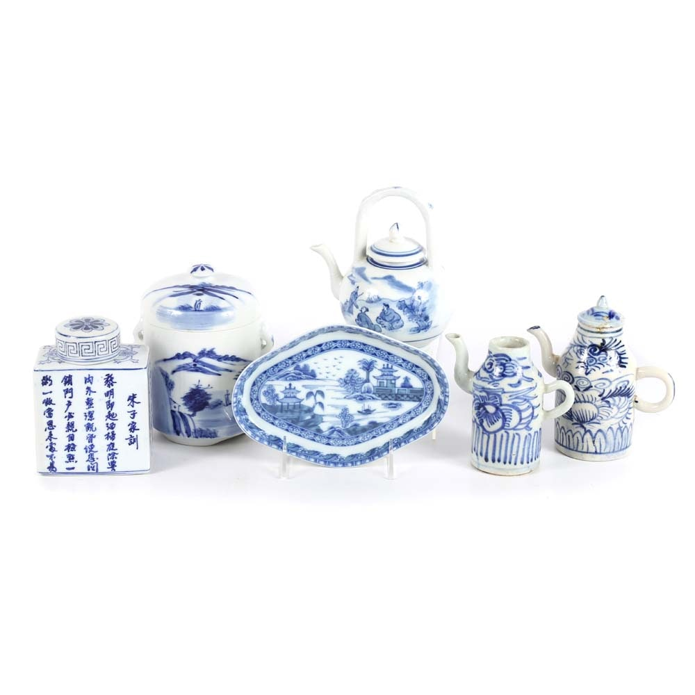 Contemporary Blue and White Chinese Porcelains