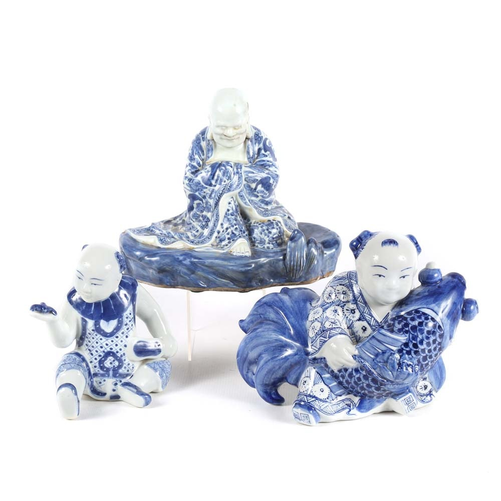 Blue and White Chinese Figurines
