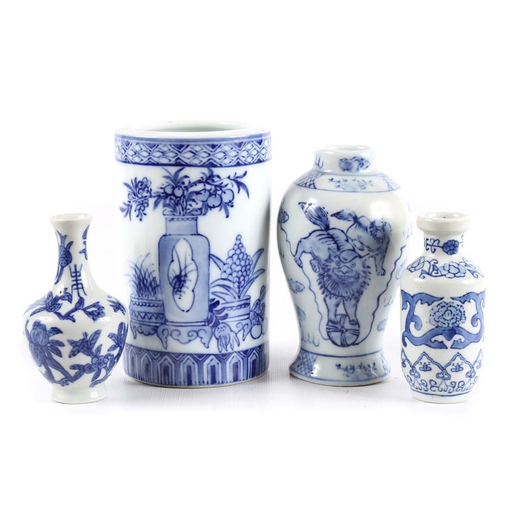Contemporary Chinese Blue and White Vases