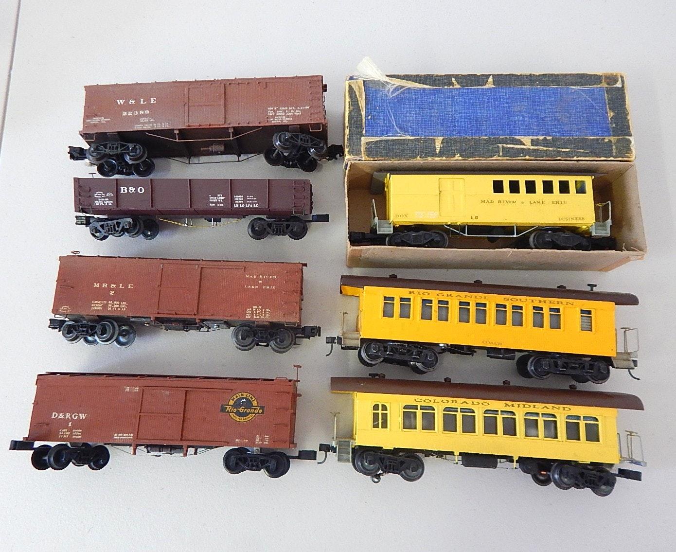 Seven Vintage O-Gauge Train Cars