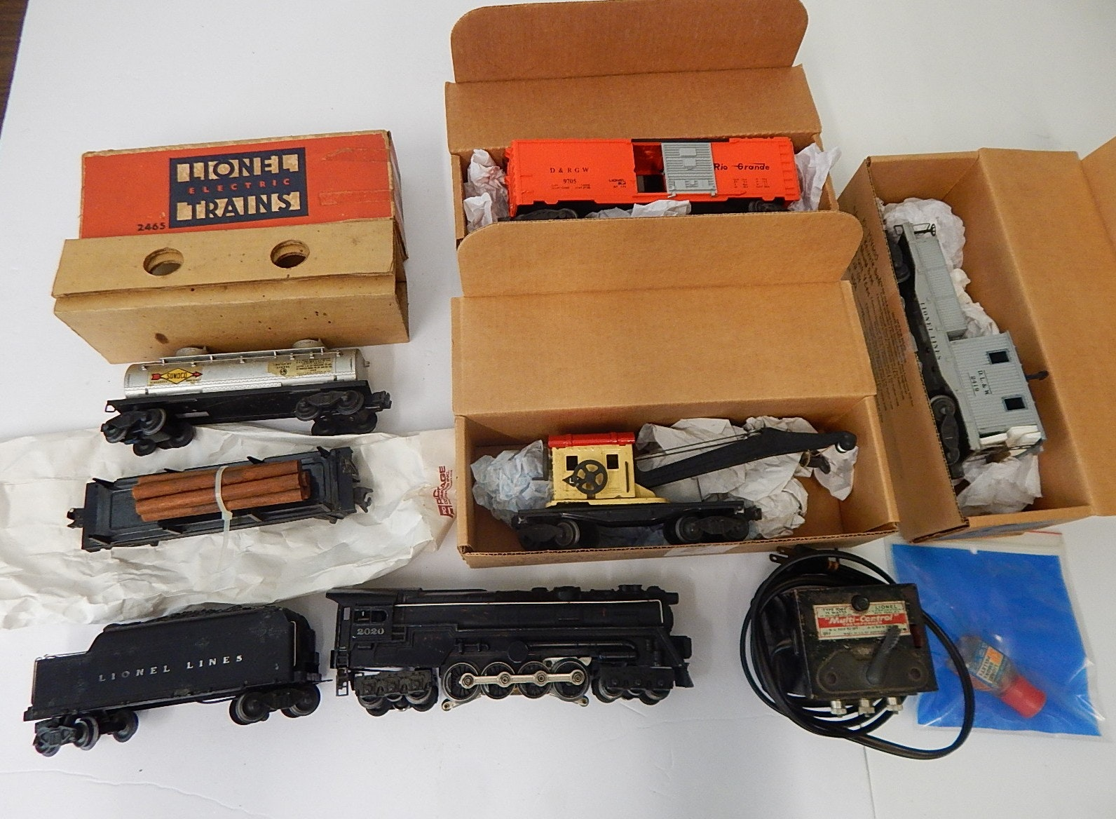 Post-War O-Gauge Train Set with Lionel, #2020 Turbine and Tender
