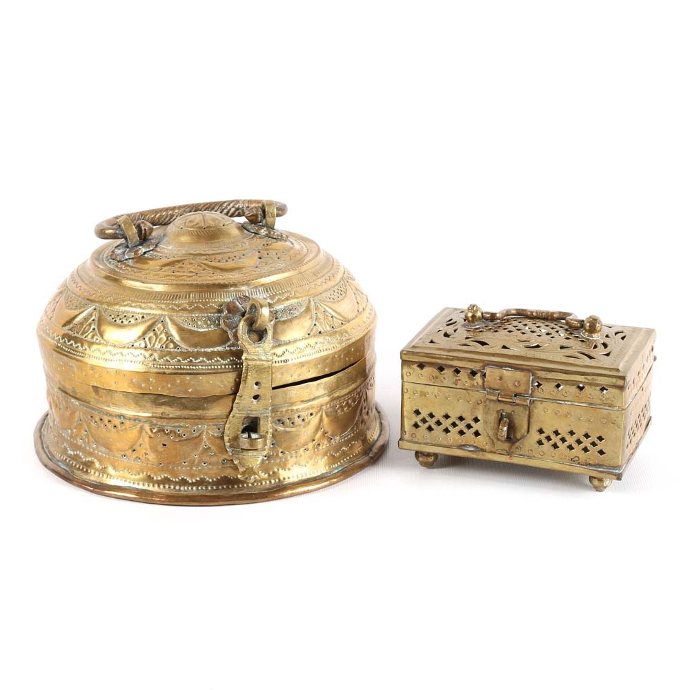 Chinese Brass Cricket Cages