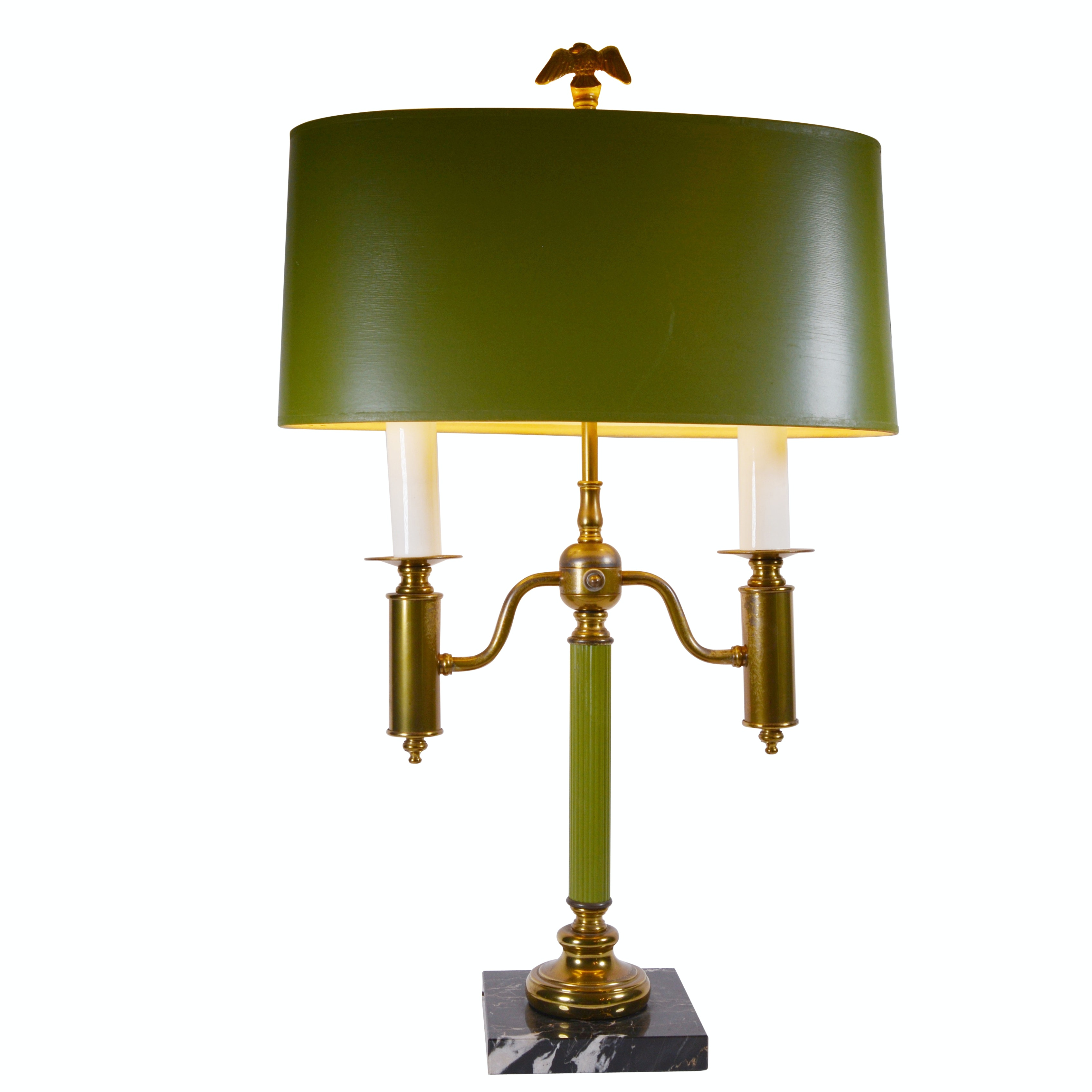 Federal Style Brass Bouillotte Table Lamp