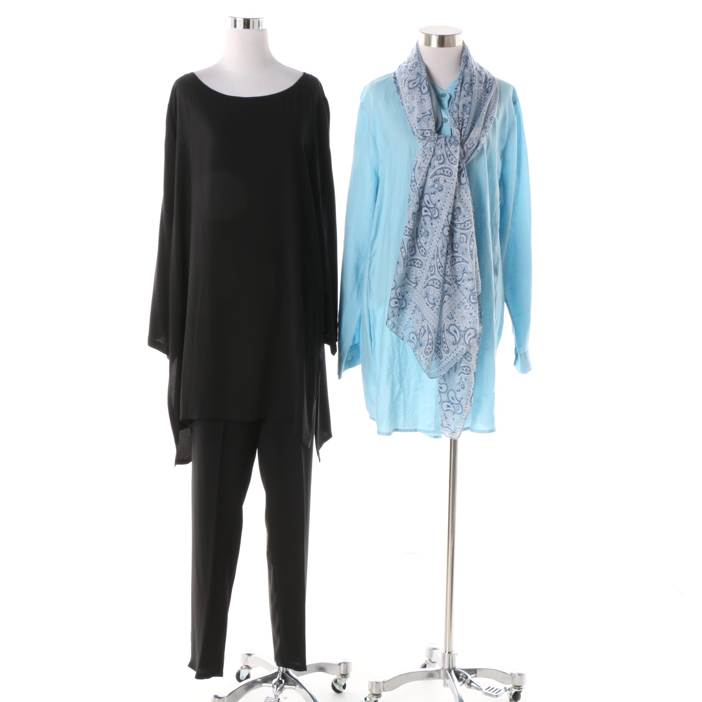 Eileen Fisher Clothing Separates w/ Tasha Polizzi Collection Lonesome Dove Scarf