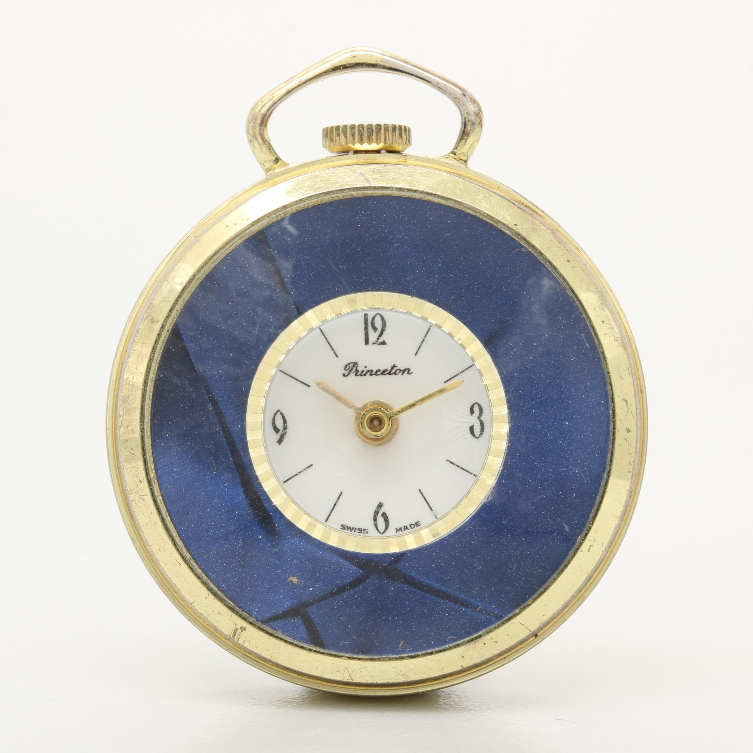 Princeton Swiss Made Open Face Pocket Watch