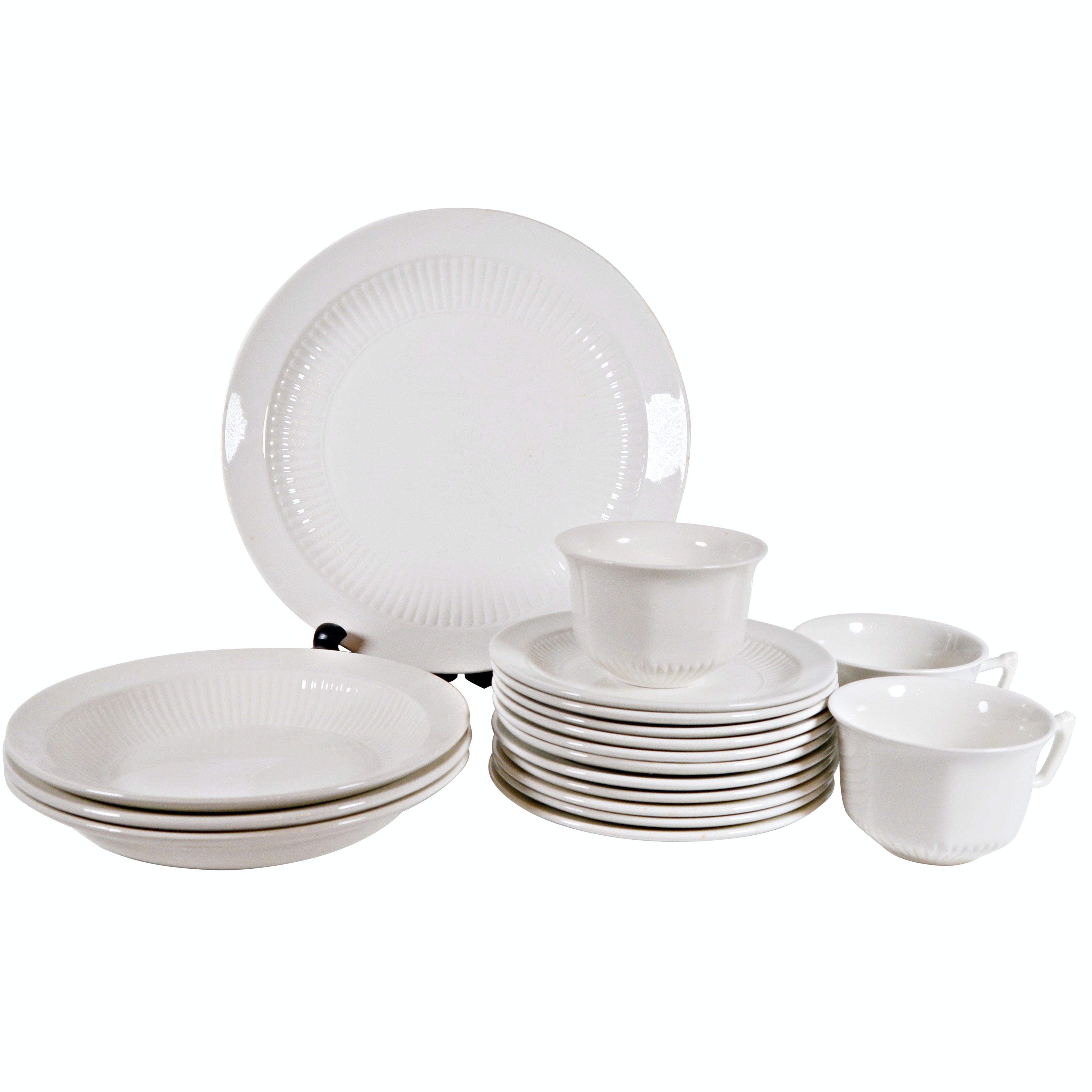 "Adams ""Empress"" White Ironstone Dinnerware"